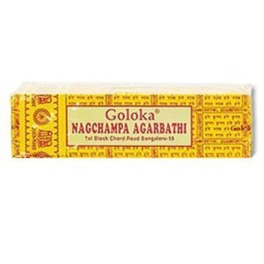 許可グリット苦しみGoloka Nagchampa incense - 40 Grams per Pack by Goloka [並行輸入品]
