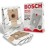 Bosch Part#462544 - Genuine Type G MEGAfilt SuperTEX Vacuum Bag (BBZ51AFG2U) - Fits Bosch Compact Series and Formula Series Vacuums - 5/Package by Bosch