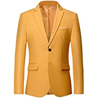 Howme-Men Two-Button Business Blazer Slim Fit Formal Plus-Size Jackets
