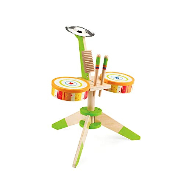 HXGL-ドラム 子供のシミュレーションダイナミックドラム木製の音楽玩具3-6歳の贈り物早期教育玩具 (色 : マルチカラー まるちから゜)