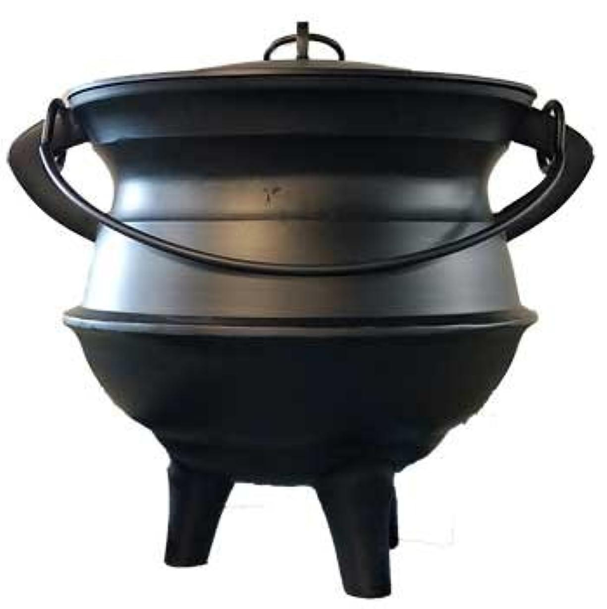 法的バストナンセンスHome Fragrance Incense Holder Cauldrons Plainアルミ蓋、ハンドルXL 18インチLimited Edition