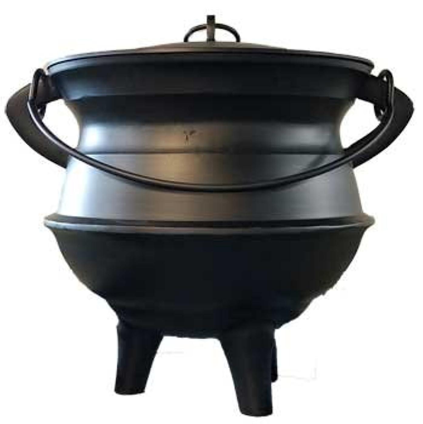 法廷ベイビー汚染Home Fragrance Incense Holder Cauldrons Plainアルミ蓋、ハンドルXL 18インチLimited Edition