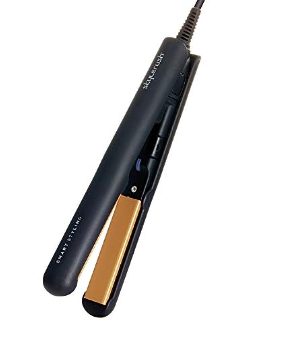 主流ヒューマニスティックマガジンスタイルラッシュ ミニ ポータブル セラミック ヘアアイロン SR-103AN (ブラック)