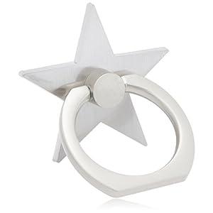 [ミルブラン] milleblanc スマホリング星シルバー色 TM50ZEX-001B 日本サイズ26号