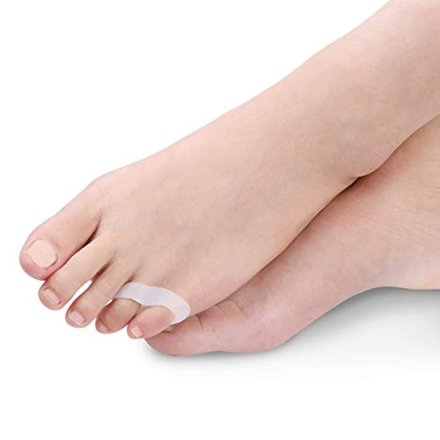 遡る密接に挑発するLittle Toe Thumb Daily Use Silicone Gel Toe Bunion Protector Foot Care Finger Toe Separator Hallux Valgus Toe...