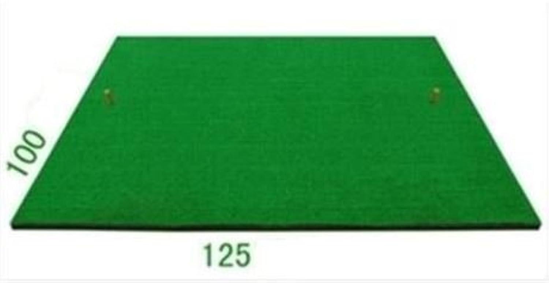 【melpe】ゴルフ練習用スタンス&ショットマット 人工芝125cm×100cmサイズ 大きいショット用マット 自宅GOLF練習 ゴルフ用人工芝 ウレタンボール6個 オリジナルティー2個付き 滑り止め防止あり