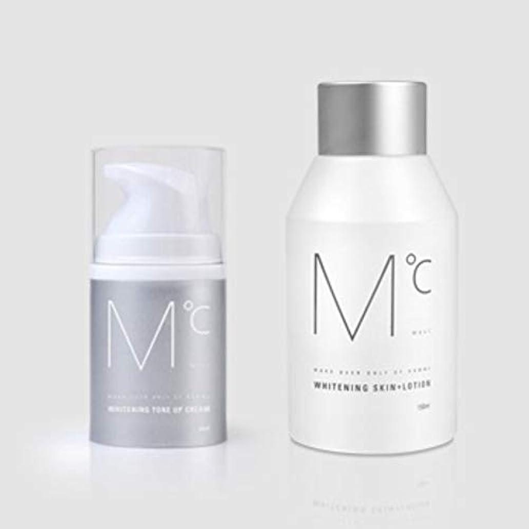 安西無心勝利したM°C Whitening Tone-UP Set(スキン+ローション&クリーム) Men's男性KOREA化粧品MdoC