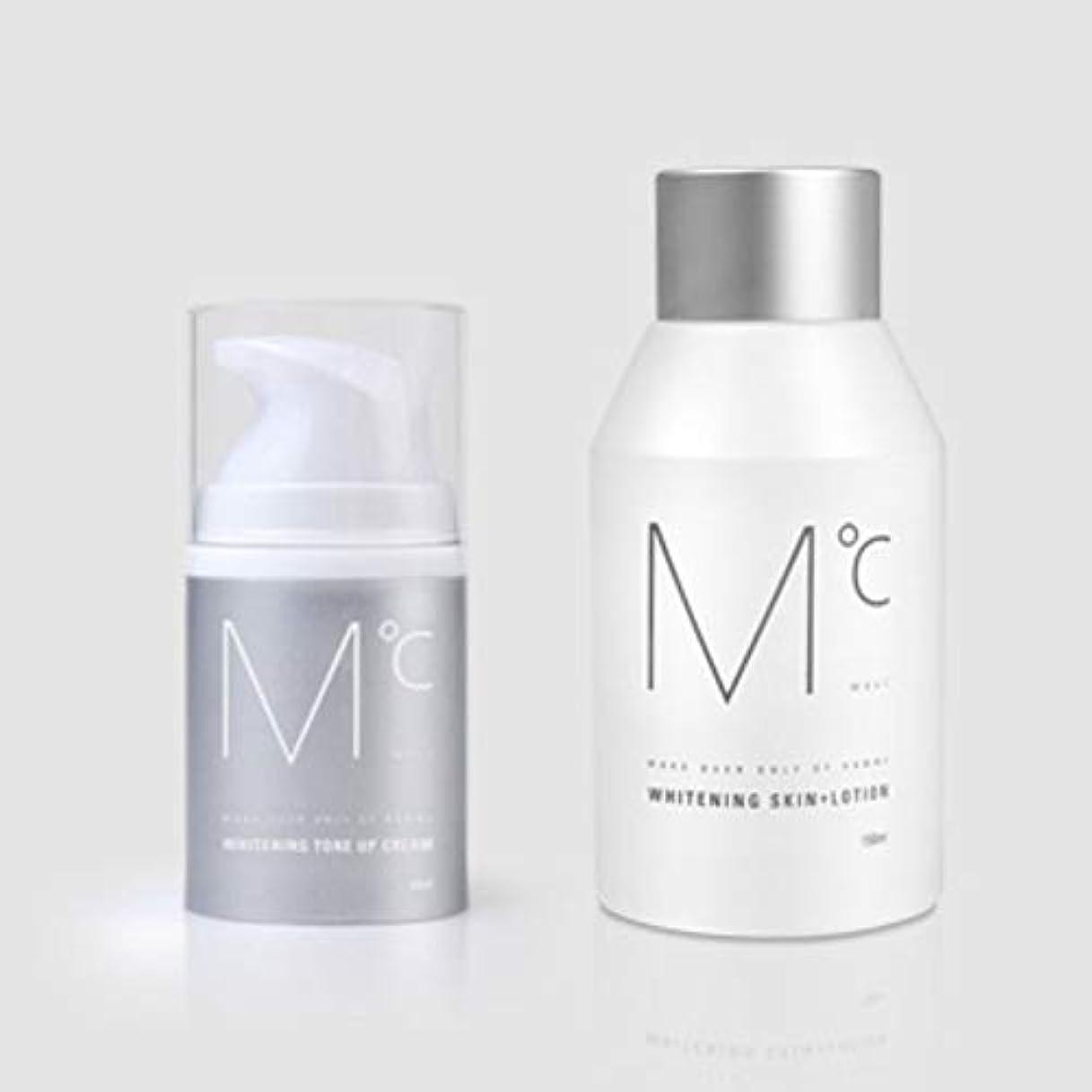 でる米国米国M°C Whitening Tone-UP Set(スキン+ローション&クリーム) Men's男性KOREA化粧品MdoC
