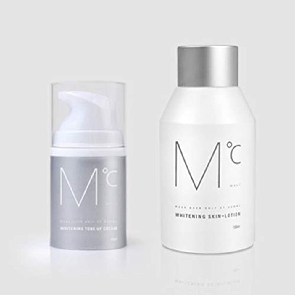 愛人小康含めるM°C Whitening Tone-UP Set(スキン+ローション&クリーム) Men's男性KOREA化粧品MdoC