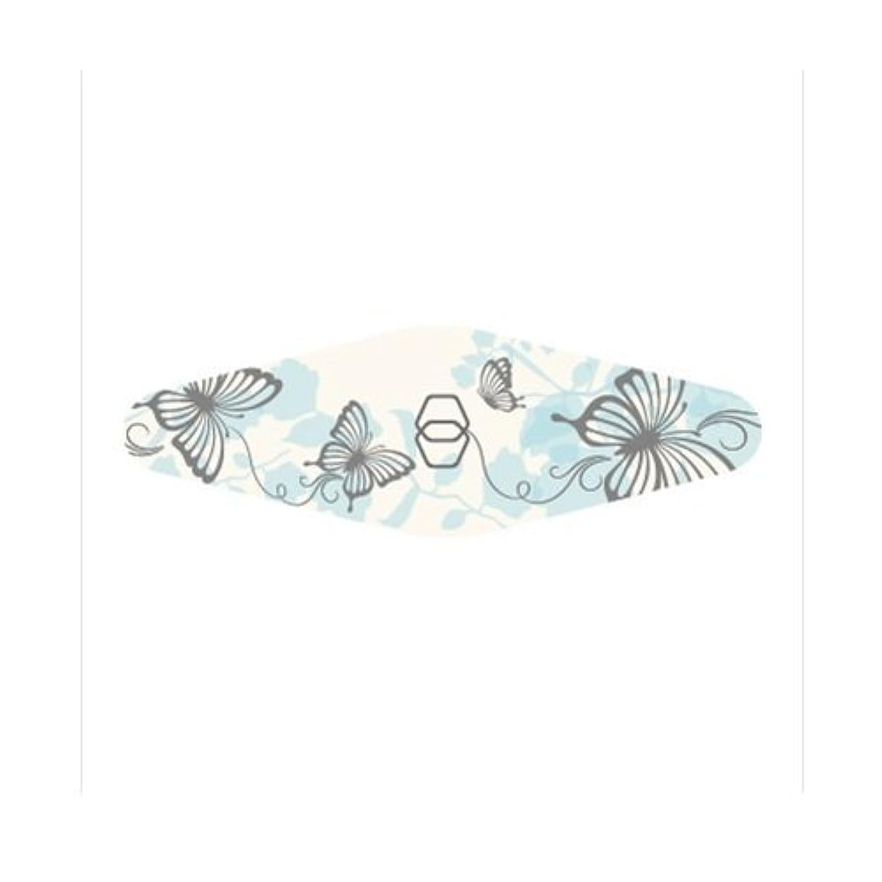 シリング観察する不幸ダイヤモンドネイルファイル キャリー ブルー蝶々