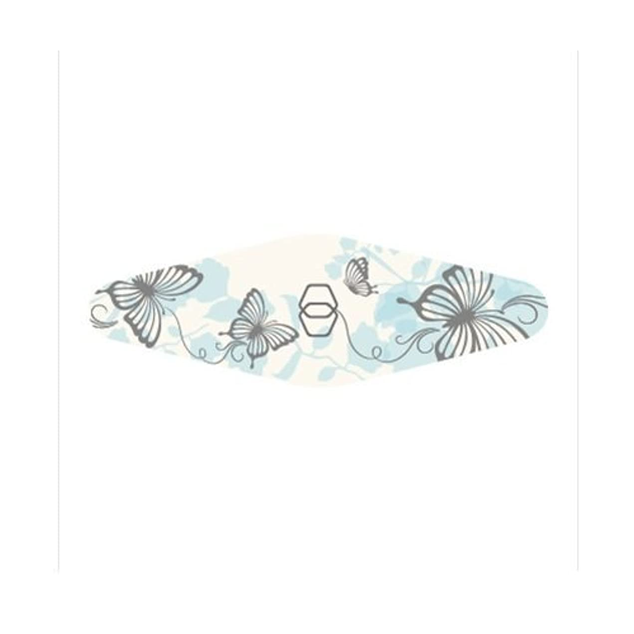 叫ぶリスナー直面するダイヤモンドネイルファイル キャリー ブルー蝶々