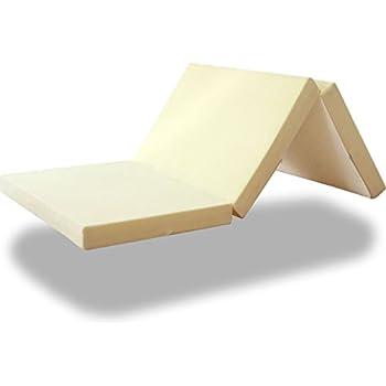ottostyle.jp 高反発マットレス 三つ折り 厚さ10cm シングル 【3カラー】 お好みで硬さが選べます 高密度ウレタンフォーム使用 体圧分散 快適睡眠 (しっかり支える【30D/200N】, クリーミーホワイト)