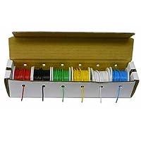 フックアップワイヤーキット–ソリッド配線キット22g、ソリッド、100ft。スプールwithディスペンサーボックス、6色。Electronix Express ®