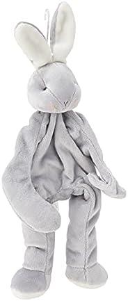 BUNNIES BY THE BAY 100107 Silly Buddy Grady Bunny Stuffed Plush Toy, Grey, 28 x 10 x 6cm