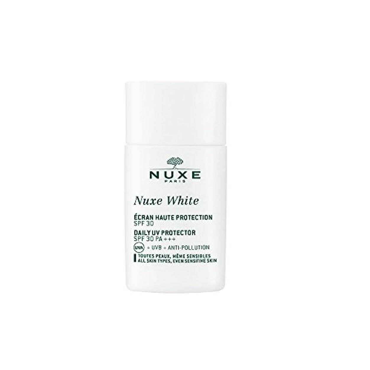 柔らかい足メッセージ忌まわしいニュクス(NUXE) ニュクスホワイト UV プロテクター 30 30mL