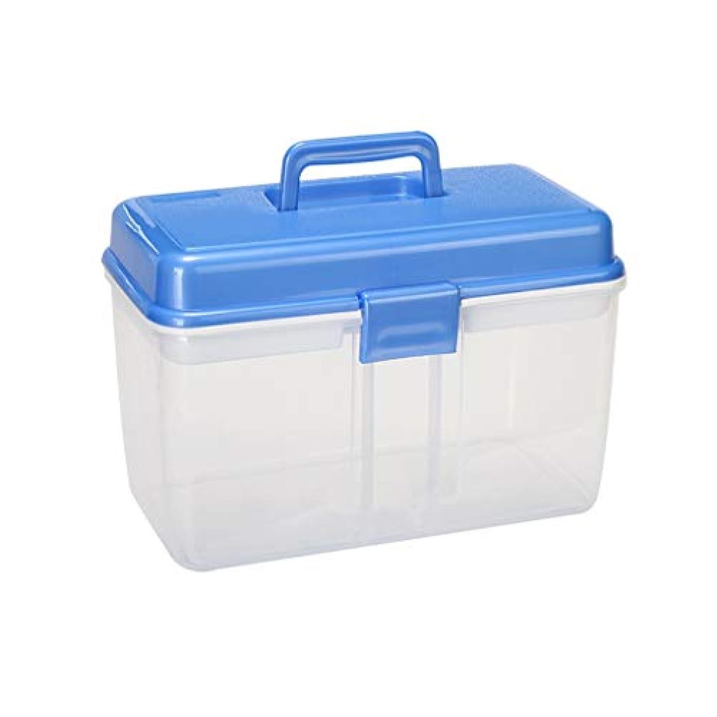 コンピューターゲームをプレイするサイレン高原LLSDD 二層家庭用薬箱家庭用薬箱収納ボックスポータブル収納薬救急箱