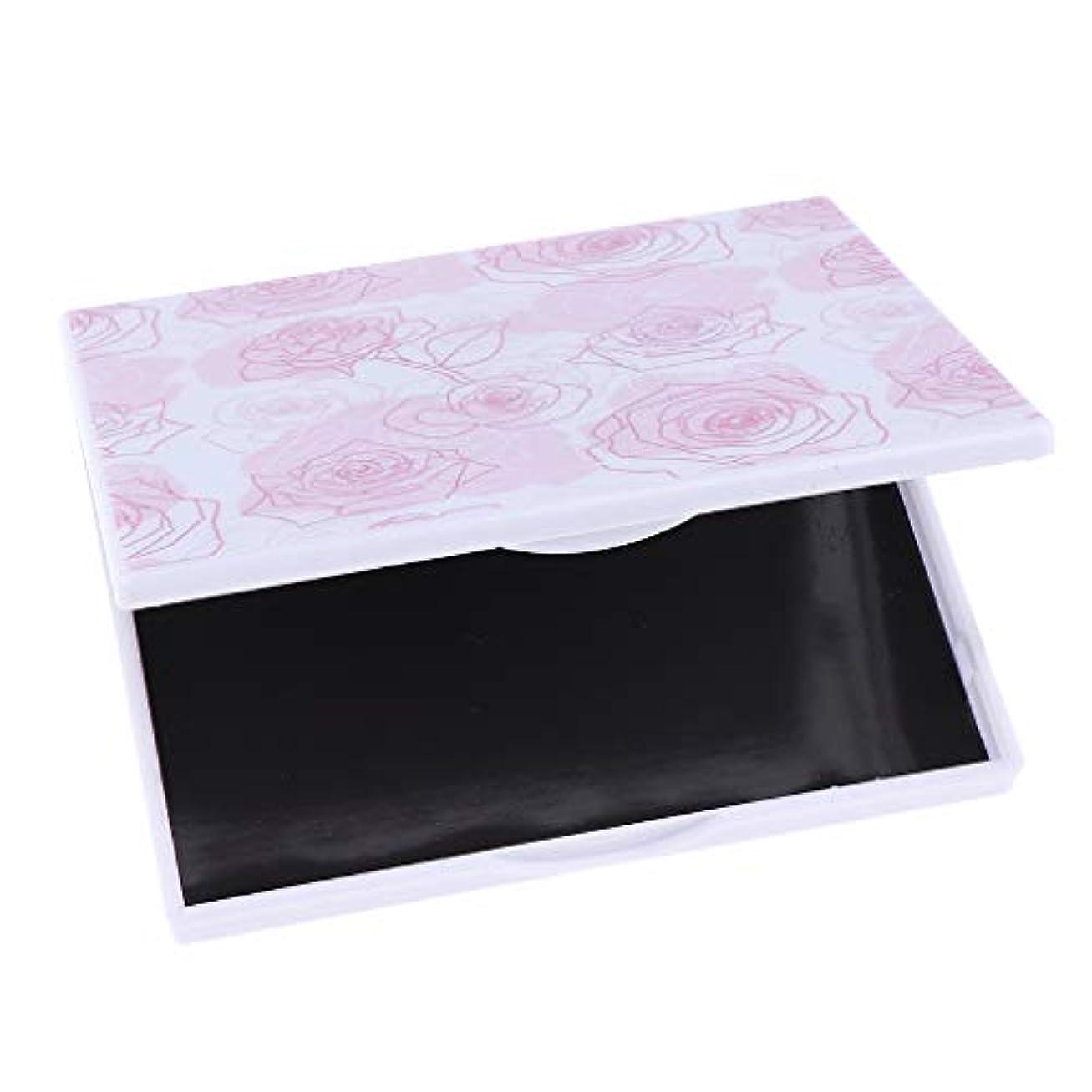 激怒イディオムペン空の磁気構造パレット、DIYのための大きい磁気化粧品のアイシャドウのホールダー - ピンクローズフラワー