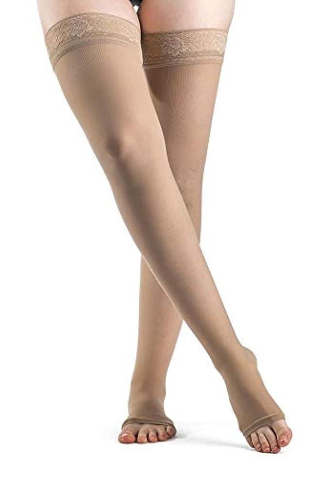 腕最愛の会社Sigvaris EverSheer 781NSLO33 15-20 Mmhg Open Toe Small Long Thigh Hosiery For Women, Natural by Sigvaris