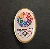 ケース入り 東京オリンピック 2020 招致 ピンバッジ 丸型タイプ 桜のリース デザイン 東京 五輪 ピンズ