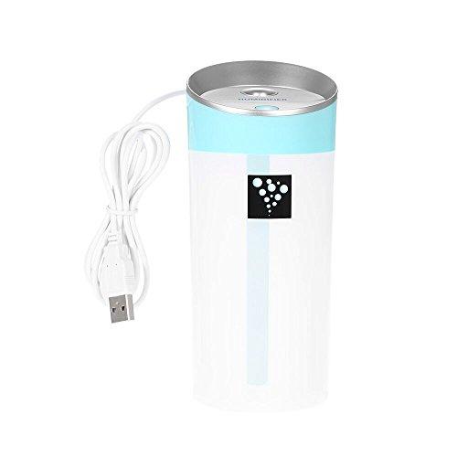 Decdeal USBアニオン空気加湿器 300ML ポータ...