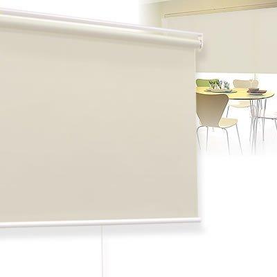 遮光 ロールスクリーン [プルコード式] 幅 90cm × 高さ 135cm ナチュラルベージュ