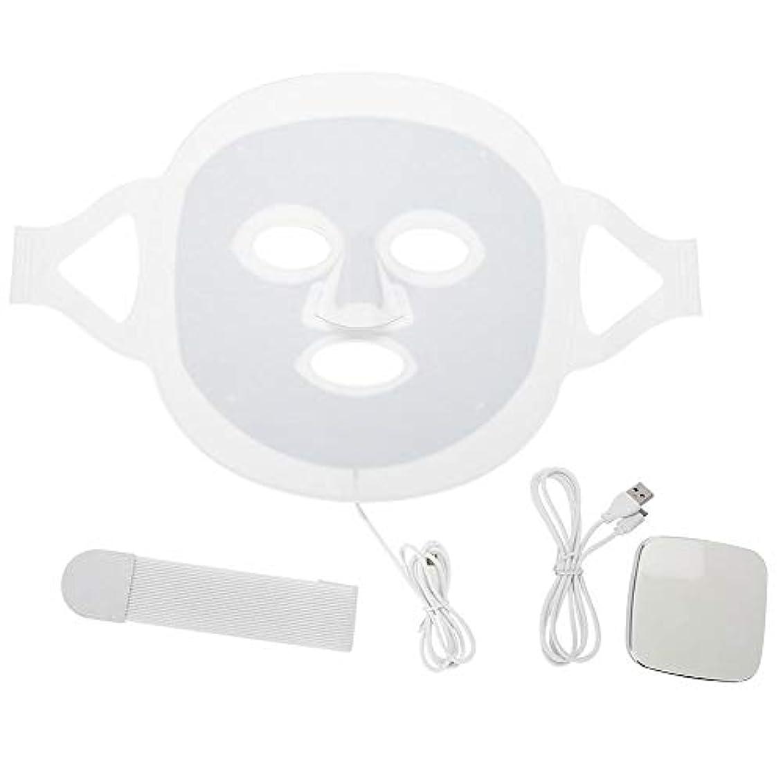 特異性カーフペルーLEDマスク3色LEDライトフォトンフェイスマスク肌のより良いにきび除去肌美容機器