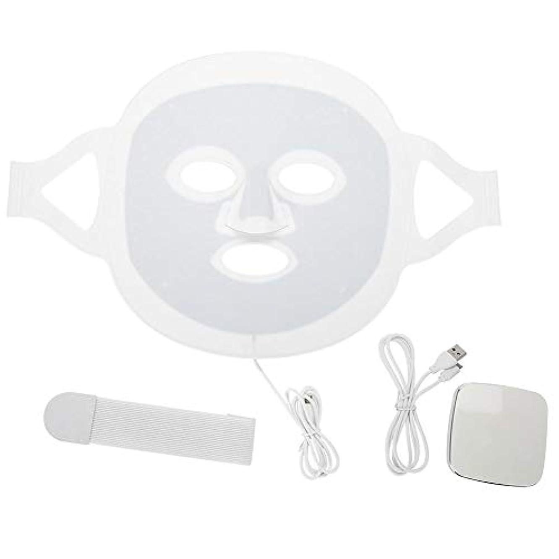 祝う論理スーパーLEDマスク3色LEDライトフォトンフェイスマスク肌のより良いにきび除去肌美容機器
