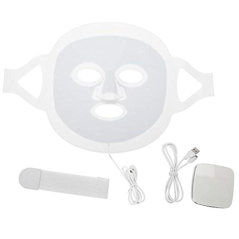 準拠キャンバス衝動LEDマスク3色LEDライトフォトンフェイスマスク肌のより良いにきび除去肌美容機器