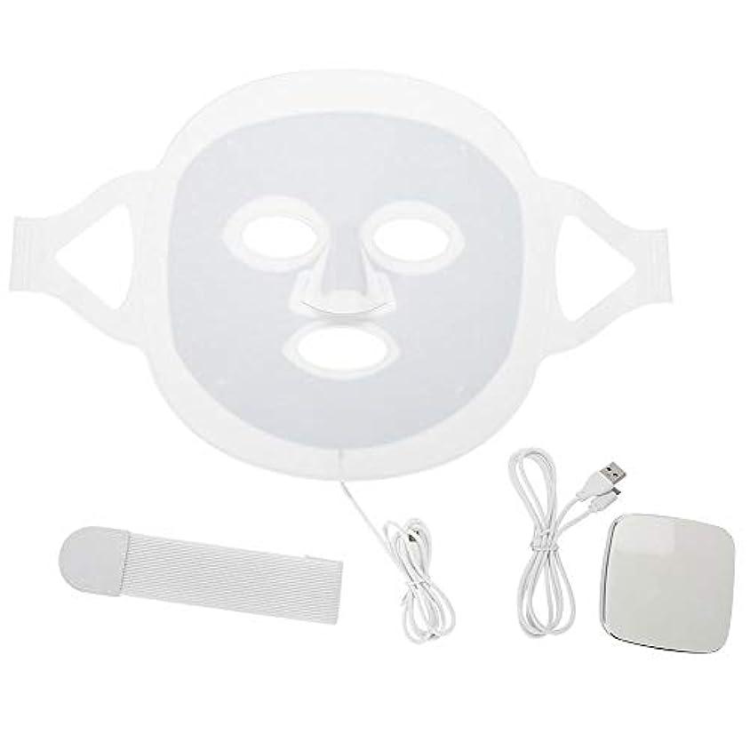 電信提供レールLEDマスク3色LEDライトフォトンフェイスマスク肌のより良いにきび除去肌美容機器