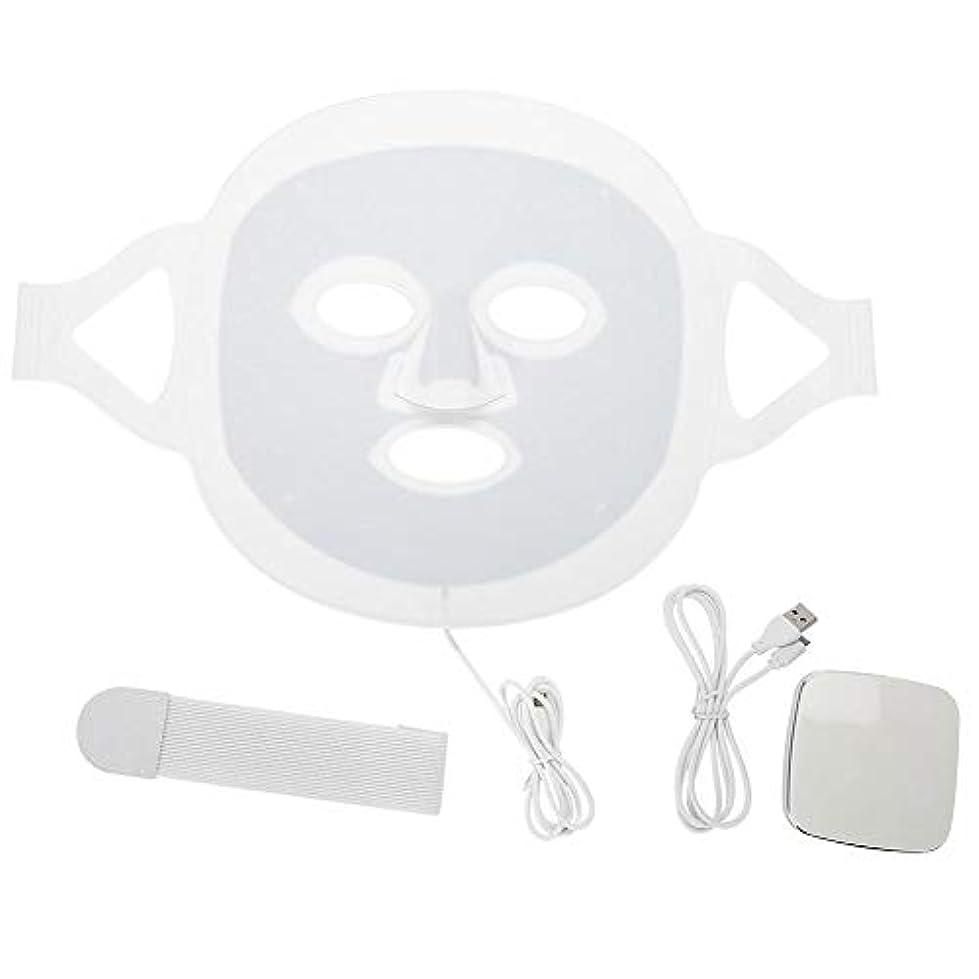 干渉オーバーコート豊富にLEDマスク3色LEDライトフォトンフェイスマスク肌のより良いにきび除去肌美容機器