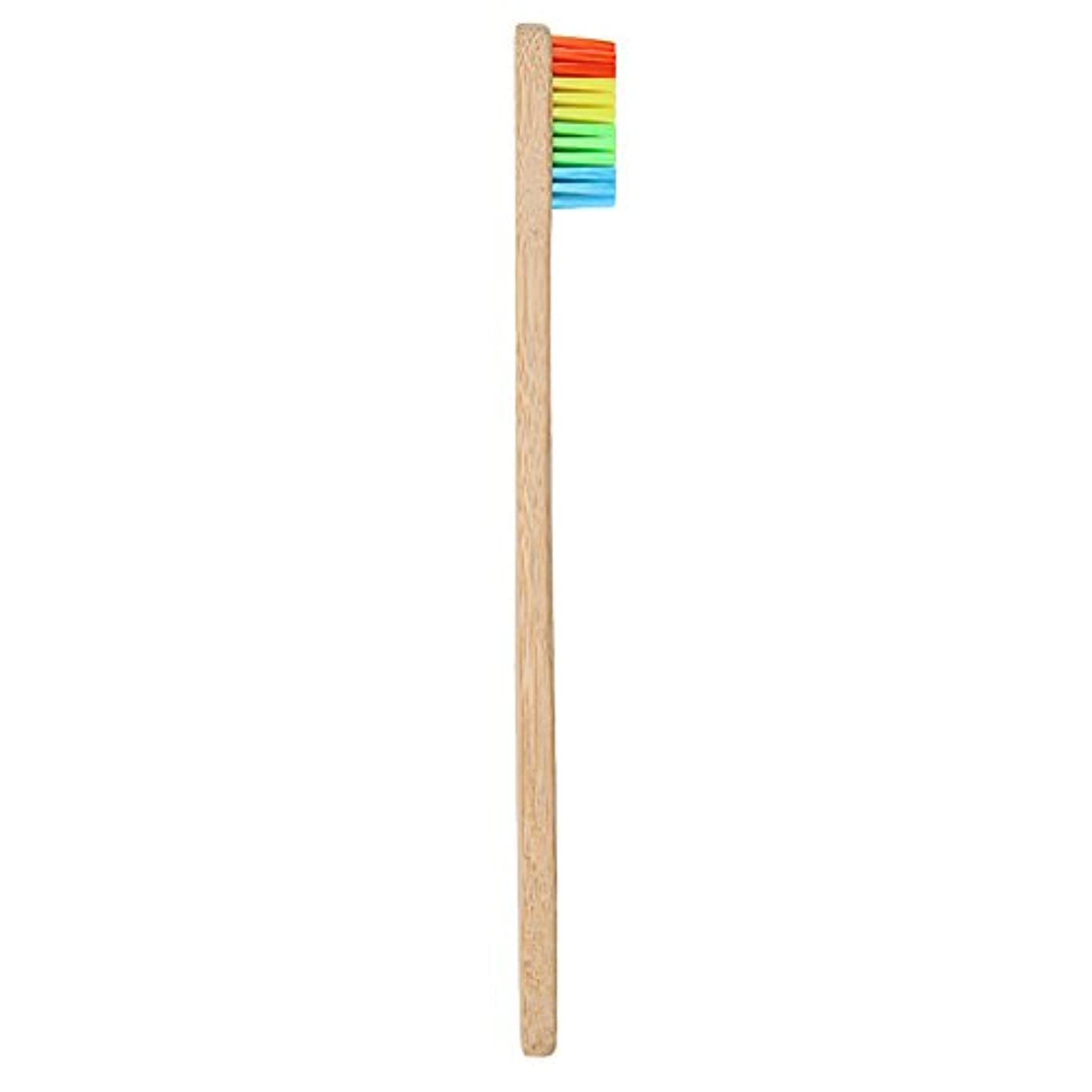 教えトリッキー常にGoshang 歯ブラシ 超極細毛 ソフト 虹色 バンブー製 環境保護