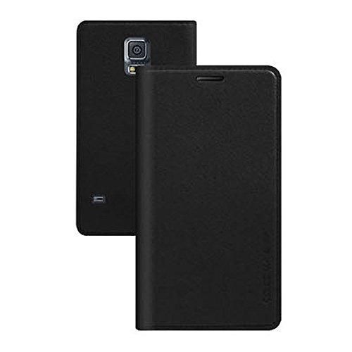 Galaxy S4 / ギャラクシー S4 (SC-04E) 対応 ケース Ladouce Leather Flip ラヂュース レザー フリップ ケース スマホ カバー Black / ブラック