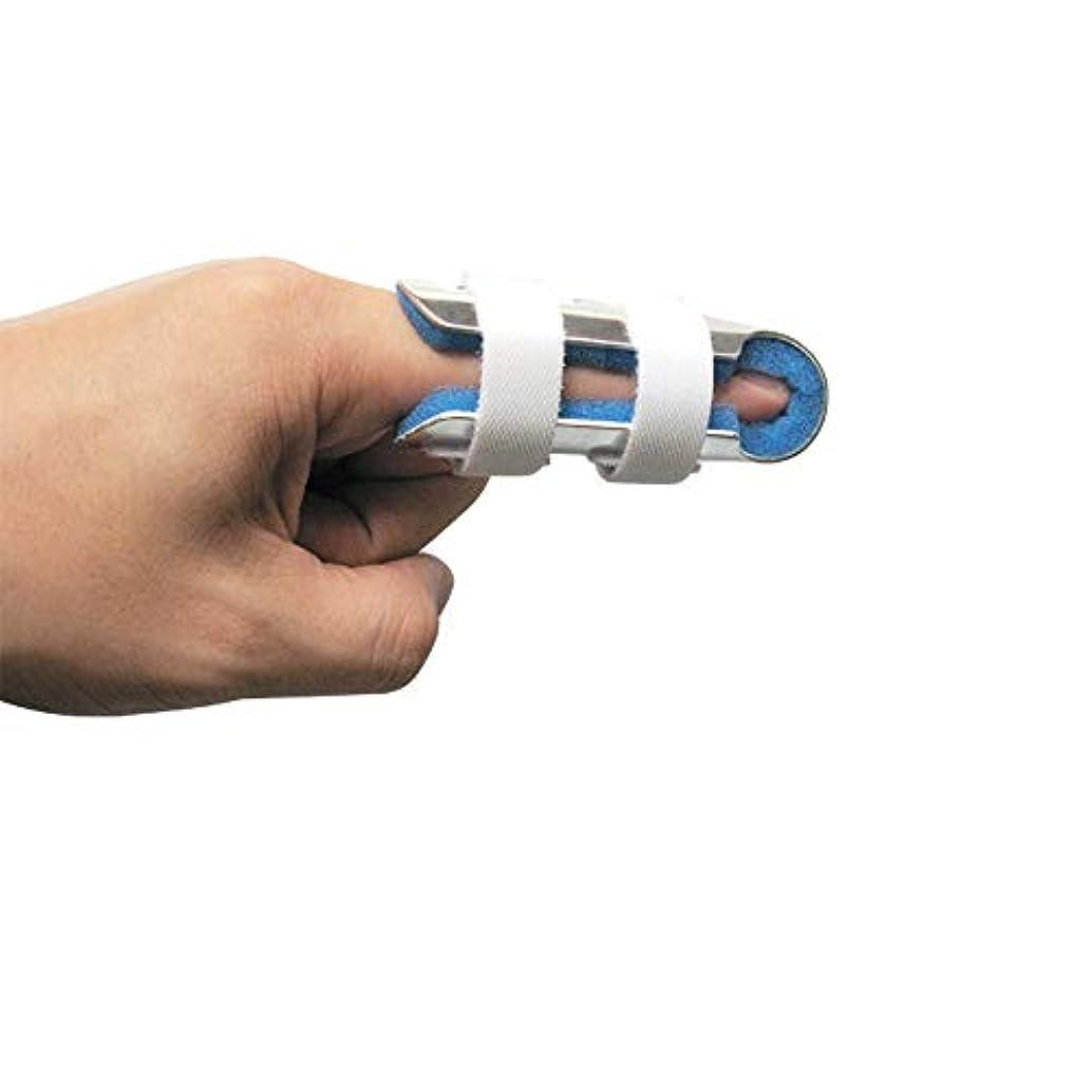 どちらか宗教有毒な指の関節固定用の柔らかいフォームの内部ループストラップと保護穴を備えた指の副木大人と子供,S