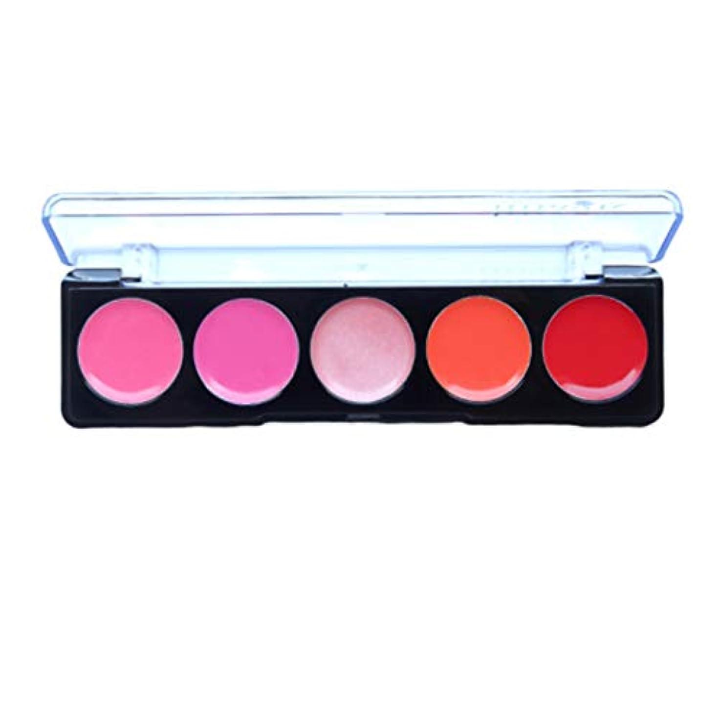 対人我慢するスロットLurrose 女性のための口紅パレット美容女性女性化粧品メイクアップ1個5色