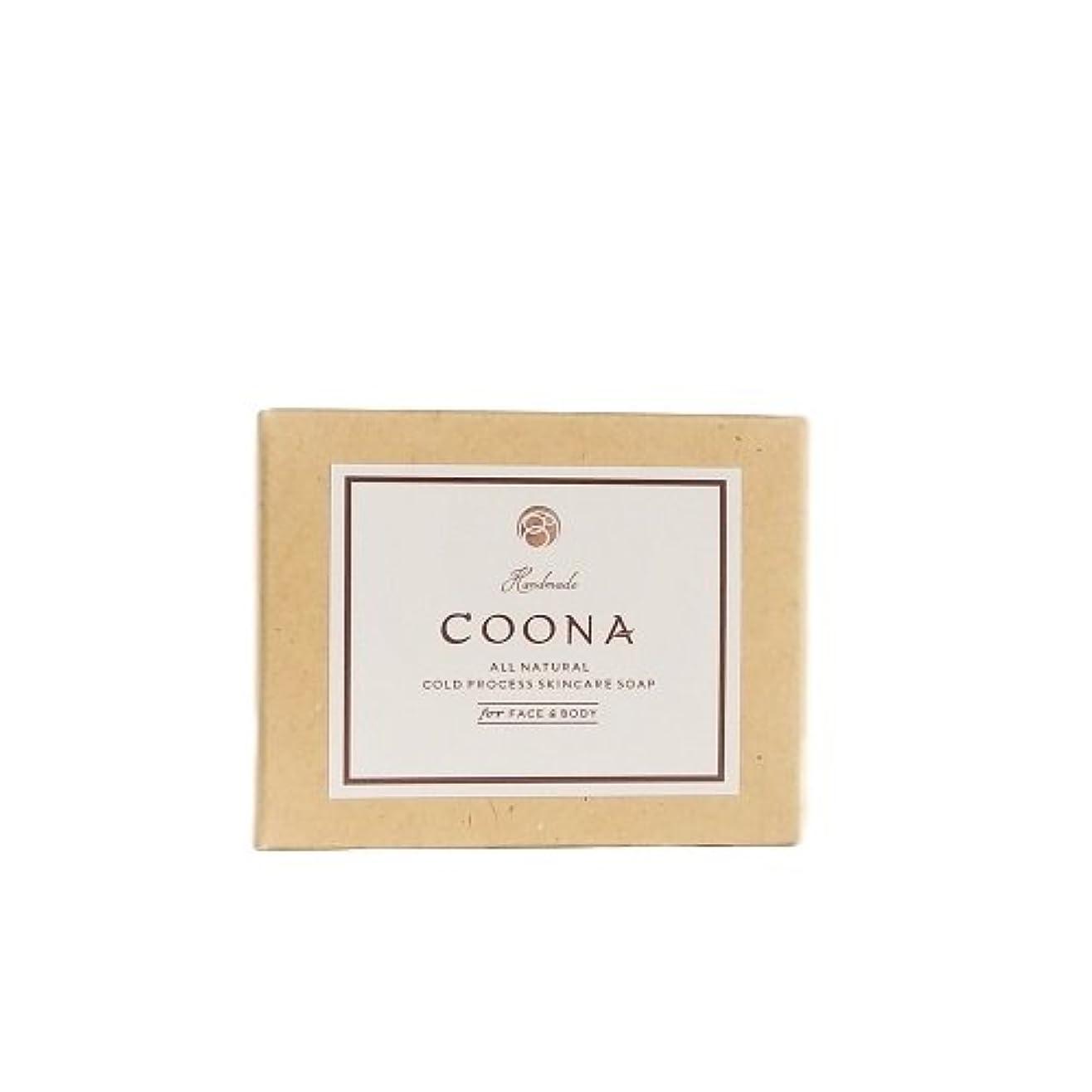 フルーティー柱取る洗顔石鹸 COONA アボカド 石けん イランイラン&ラベンダー (天然素材 自然派 コールドプロセス 手作りせっけん)