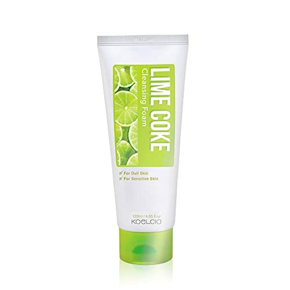 悪性の発信カロリーKOELCIA Lime Coke Cleansing Foam 120ml/コエルシア ライム コーク クレンジングフォーム 120ml/Korea Cosmetics