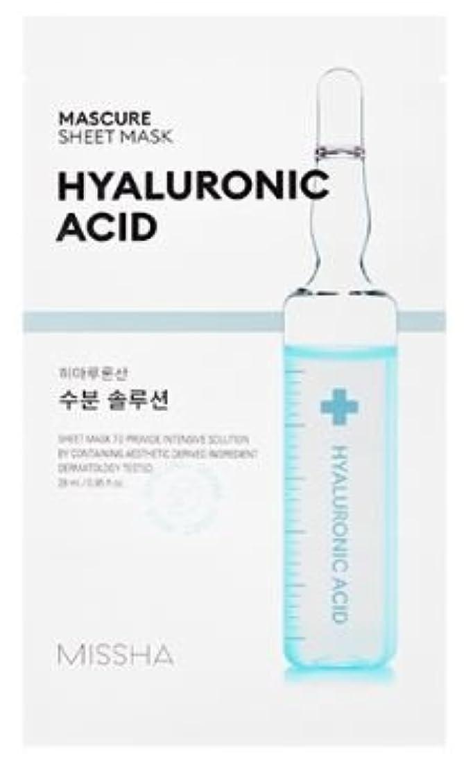 [Missha] Mascure Sheet Mask 28ml*5ea/[ミシャ]マスキュアシートマスク28ml * 5枚 (#Hyaluronic Acid) [並行輸入品]