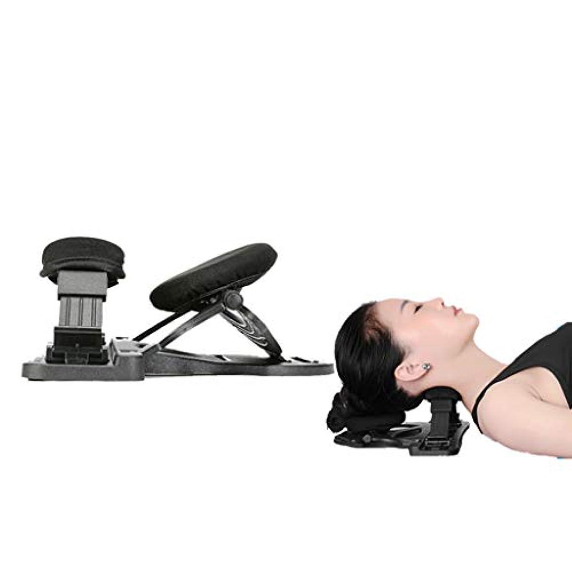 首のマッサージャーの頚部枕頚部の理学療法の枕牽引のマッサージは首の肩および背部筋肉痛を取り除き、緩めます,黒