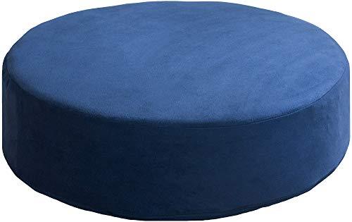 リビング座布団 丸 ブルー