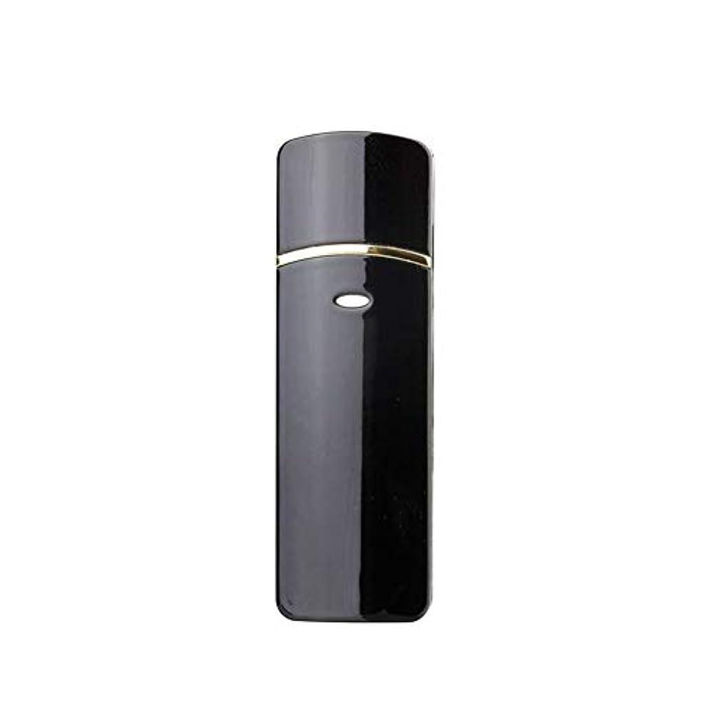 伝える証書ハシー顔のスプレーヤー加湿器美容保湿ミニ顔ミスト霧化まつげエクステンションUSB充電式コールドスプレー (Color : Black)