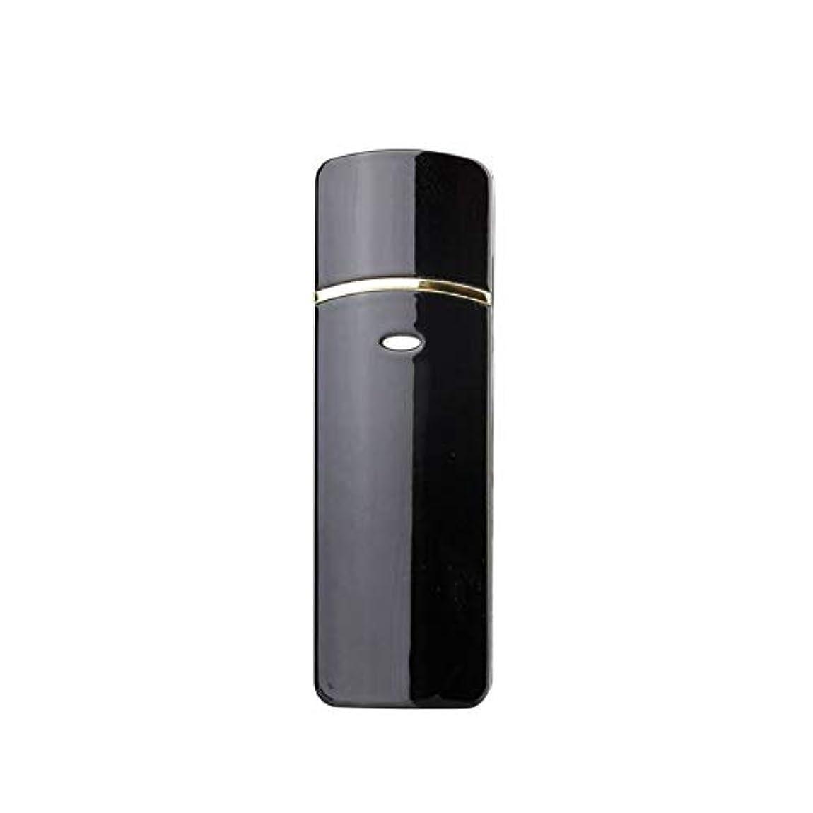 宗教釈義精度顔のスプレーヤー加湿器美容保湿ミニ顔ミスト霧化まつげエクステンションUSB充電式コールドスプレー (Color : Black)