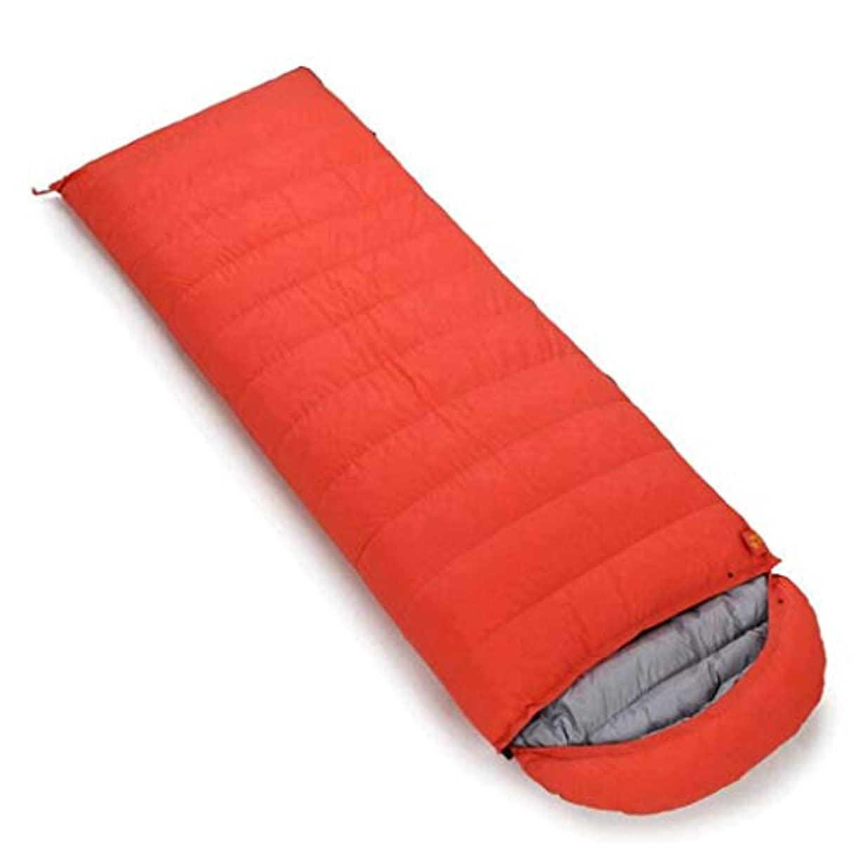 きちんとしたコック打倒屋外キャンプ用寝袋屋外縫製ダブル寝袋ポータブル圧縮寝袋 (Capacity : 2.1kg, Color : Orange)
