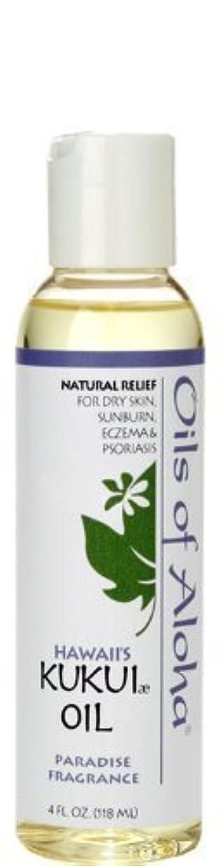 スカルク発表肯定的オイルズ オブ アロハ(Oils Of Aloha) Kukui Skin Oil Paradise Fragrance 4oz 118ml