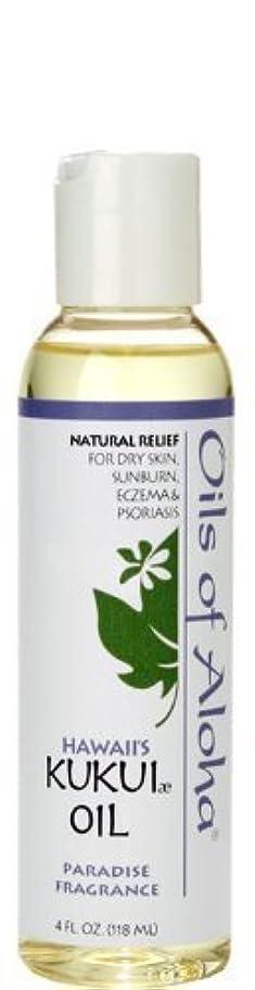 曲げるぬるい前件オイルズ オブ アロハ(Oils Of Aloha) Kukui Skin Oil Paradise Fragrance 4oz 118ml