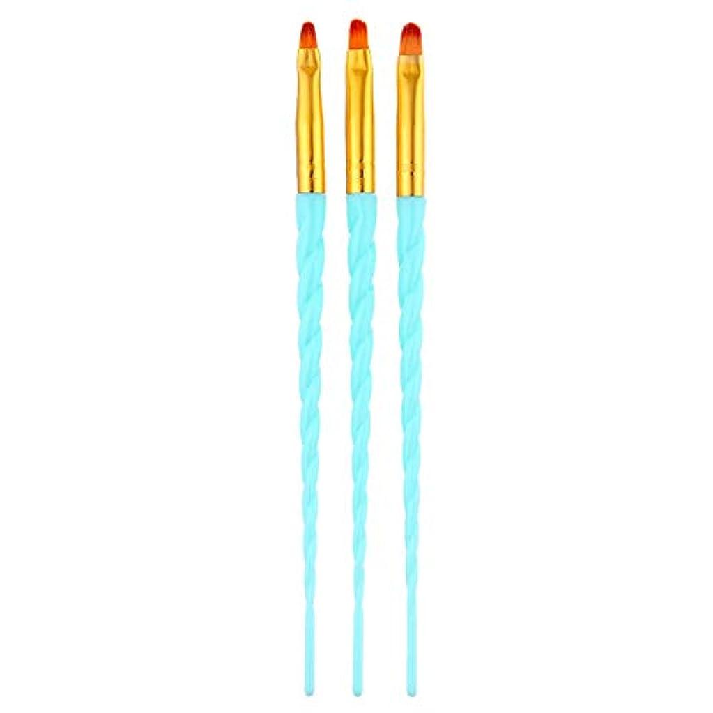 単語同様の意外CUHAWUDBA 3ピース/セット、ネイルアート、スレッド、アクリルuvジェルの延長ビルダー、絵画ブラシのパターンのデザイン、描画用ペン、マニキュアツール、ブルー