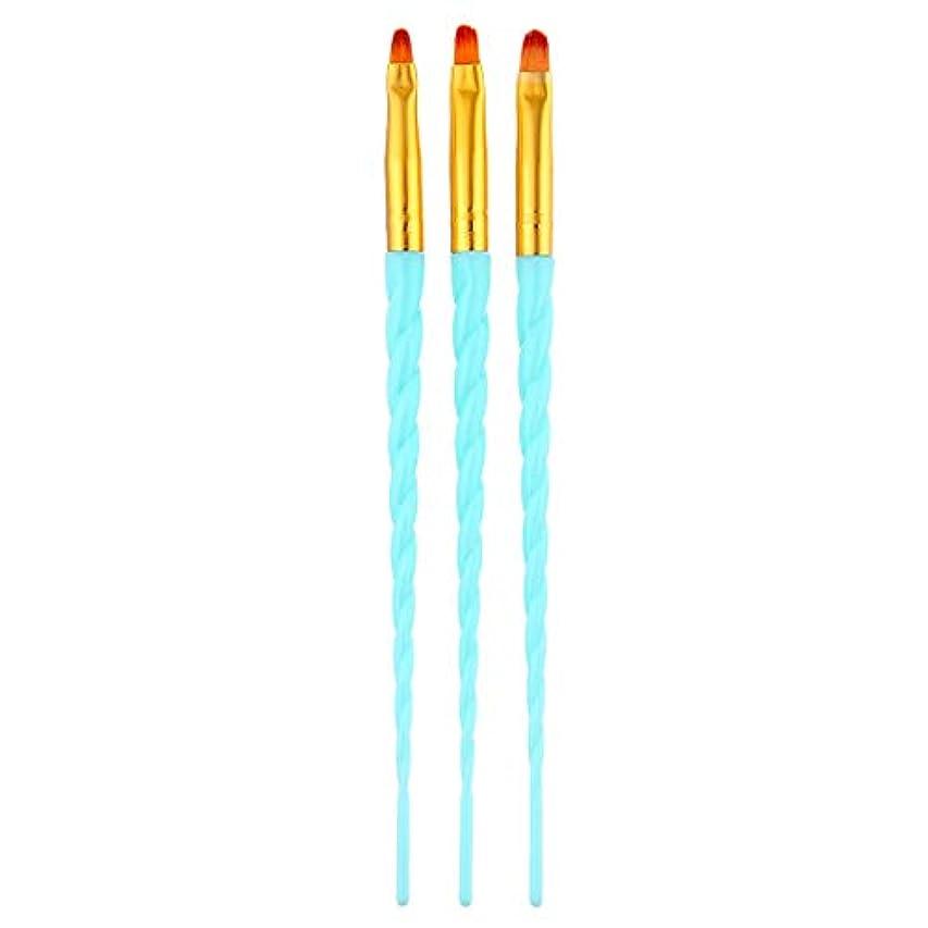伴うジョガー側溝CUHAWUDBA 3ピース/セット、ネイルアート、スレッド、アクリルuvジェルの延長ビルダー、絵画ブラシのパターンのデザイン、描画用ペン、マニキュアツール、ブルー