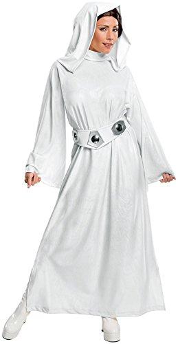 レイア コスチューム Mサイズ スターウォーズ コスプレ 衣装 ウィッグ ベルト フード付 ドレス セット 大人 女性 レイア姫 プリンセス・レイア