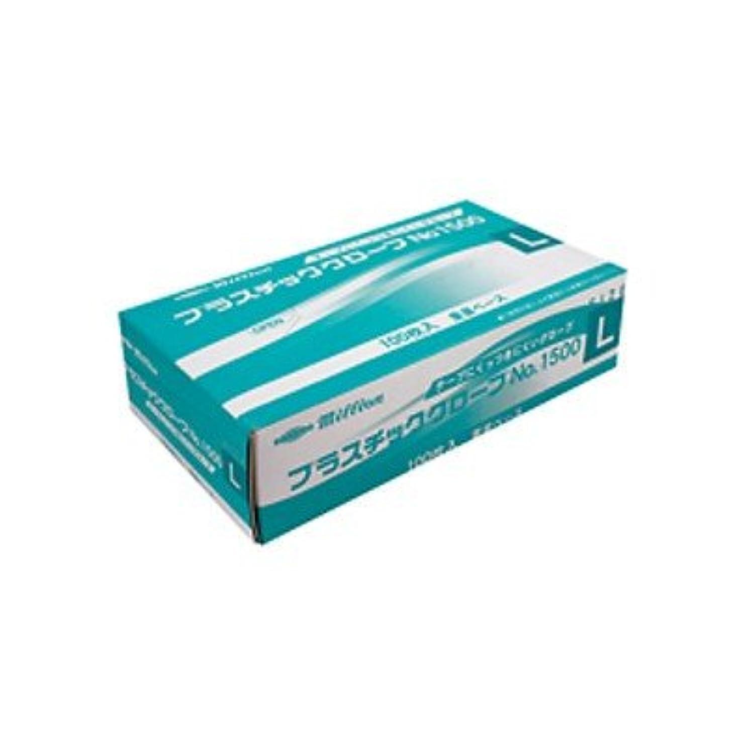 アッパー人類軍隊ミリオン プラスチック手袋 粉付No.1500 L 品番:LH-1500-L 注文番号:62741569 メーカー:共和