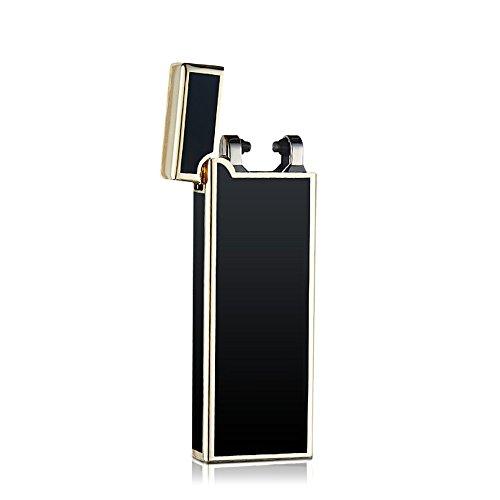 Goodlight 電子ライター 振ると点火 USB充電式 防風 軽量 薄型(シェイク点火) (ブッラク)