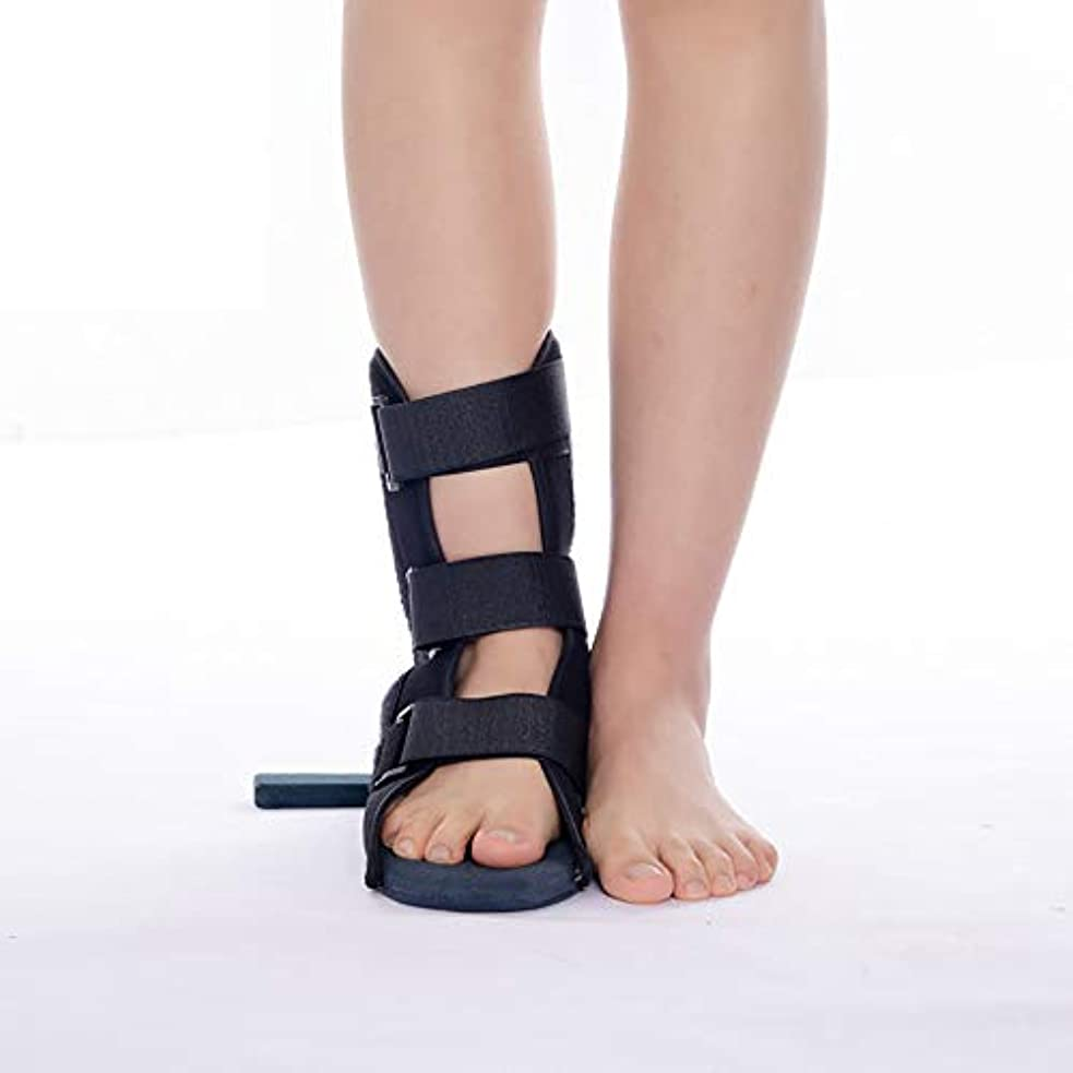 口実一般的な詳細に足固定整形外科用靴足ブレースサポート回転防止足首捻挫スタビライザーブーツ用足首関節捻挫骨折リハビリテーション